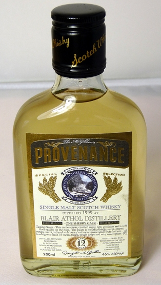 Blair Athol 1999 12yo Provenance 20cl