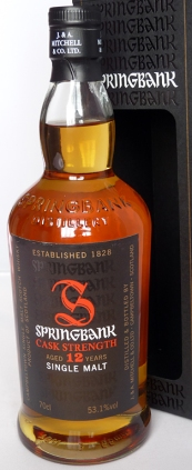 Springbank 12yo Cask Strength Batch 5 70cl