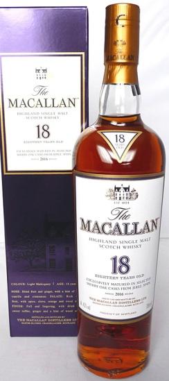 Macallan 18yo 2016 70cl
