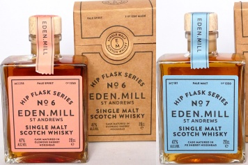 Eden Mill Hip Flask 6 and 7 3yr 20cl